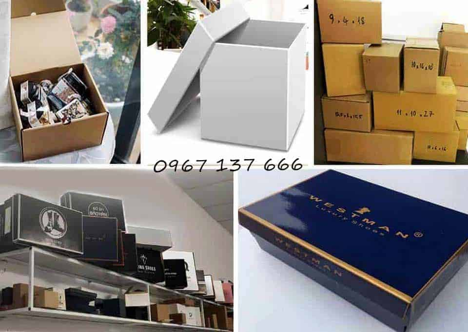 Hộp carton Hà Nội, bán sỉ các loại hộp giấy có in và không in